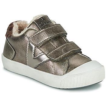 Sapatos Rapariga Sapatilhas Victoria HUELLAS  TIRAS Prata