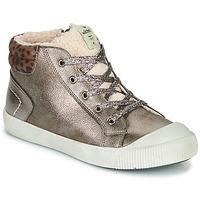 Sapatos Rapariga Sapatilhas de cano-alto Victoria HUELLAS METAL Prata
