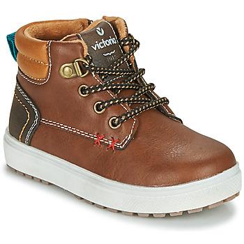 Sapatos Rapaz Sapatilhas Victoria PUZZLE  PIEL Castanho