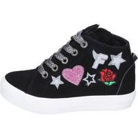 Sapatos Rapariga Sapatilhas de cano-alto Fiorucci BM420 Preto