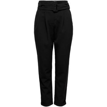 Textil Calças Only ONLSICA HW PAPERBAG PANTS preto
