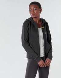 Textil Mulher Casacos fato de treino Puma METALLIC FZ HOODY TR Preto / Dourado