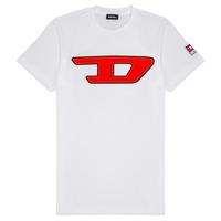 Textil Criança T-Shirt mangas curtas Diesel TJUSTDIVISION Branco