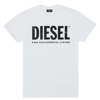 Textil Criança T-Shirt mangas curtas Diesel TJUSTLOGO Branco