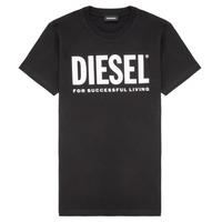 Textil Criança T-Shirt mangas curtas Diesel TJUSTLOGO Preto
