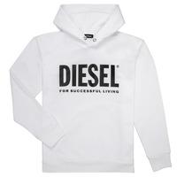 Textil Rapaz Sweats Diesel SDIVISION LOGO Branco