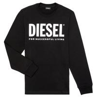 Textil Rapaz T-shirt mangas compridas Diesel TJUSTLOGO ML Preto
