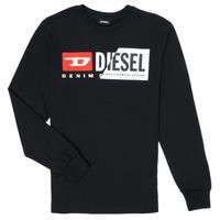 Textil Criança T-shirt mangas compridas Diesel TDIEGOCUTY Preto