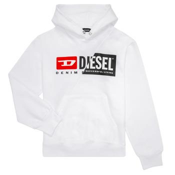 Textil Criança Sweats Diesel SGIRKHOODCUTY Branco
