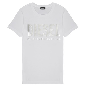 Textil Rapariga T-Shirt mangas curtas Diesel TSILYWX Branco