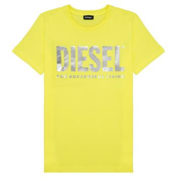 Textil Rapariga T-Shirt mangas curtas Diesel TSILYWX Amarelo