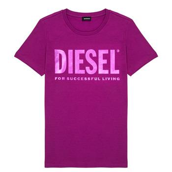 Textil Rapariga T-Shirt mangas curtas Diesel TSILYWX Rosa