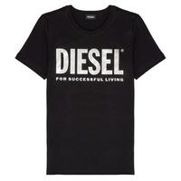 Textil Rapariga T-Shirt mangas curtas Diesel TSILYWX Preto