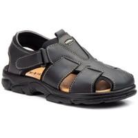 Sapatos Homem Sandálias Morxiva Shoes Sandalia de hombre de piel by Pepe Agullo Noir