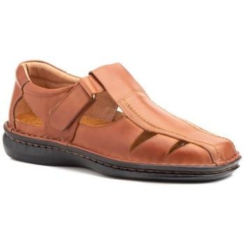 Sapatos Homem Sandálias Cactus Calzados Sandalia de hombre de piel by Pepe Agullo Marron