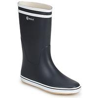 Sapatos Mulher Botas de borracha Aigle MALOUINE Marinho / Branco