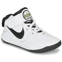 Sapatos Rapaz Sapatilhas de basquetebol Nike TEAM HUSTLE D 9 PS Branco / Preto