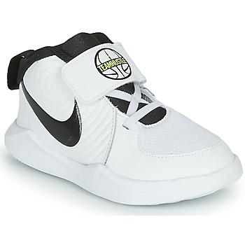 Sapatos Rapaz Sapatilhas de basquetebol Nike TEAM HUSTLE D 9 TD Branco / Preto