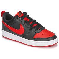 Sapatos Criança Sapatilhas Nike COURT BOROUGH LOW 2 GS Preto / Vermelho