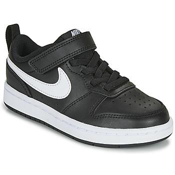 Sapatos Criança Sapatilhas Nike COURT BOROUGH LOW 2 PS Preto / Branco