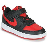 Sapatos Criança Sapatilhas Nike COURT BOROUGH LOW 2 TD Preto / Vermelho