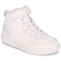 Sapatos Criança Sapatilhas de cano-alto Nike COURT BOROUGH MID 2 PS Branco