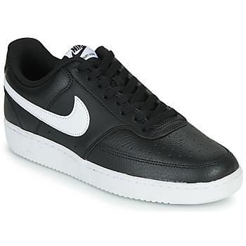 Sapatos Homem Sapatilhas Nike COURT VISION LOW Preto / Branco