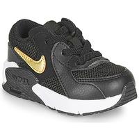 Sapatos Criança Sapatilhas Nike AIR MAX EXCEE TD Preto / Ouro