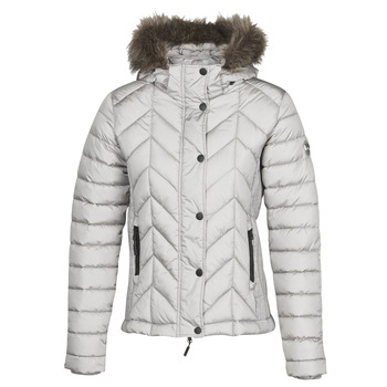 Textil Mulher Quispos Superdry LUXE FUJI PADDED JACKET Prata