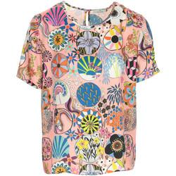 Textil Mulher T-Shirt mangas curtas Paul Smith Top Rosa
