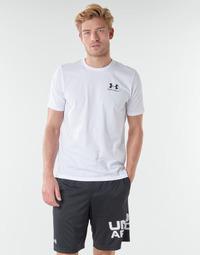 Textil Homem T-Shirt mangas curtas Under Armour SPORTSTYLE LEFT CHEST SS Branco