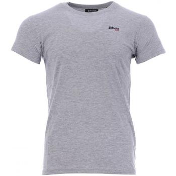 Textil Homem T-Shirt mangas curtas Schott  Cinza