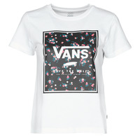 Textil Mulher T-Shirt mangas curtas Vans BOXED IN BOXY Branco