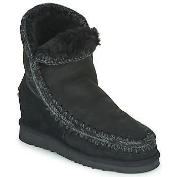 Sapatos Mulher Botas baixas Mou ESKIMO INNER WEDGE SHORT Preto