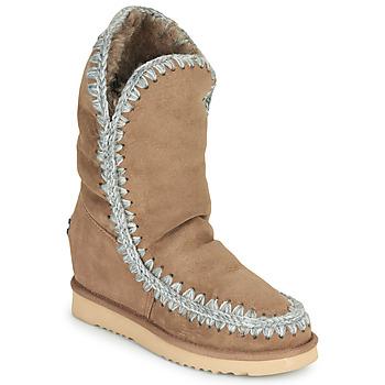 Sapatos Mulher Botas baixas Mou ESKIMO INNER WEDGE TALL Bege
