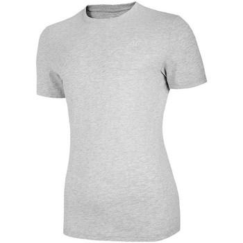Textil Mulher T-Shirt mangas curtas 4F TSM003 Cinzento