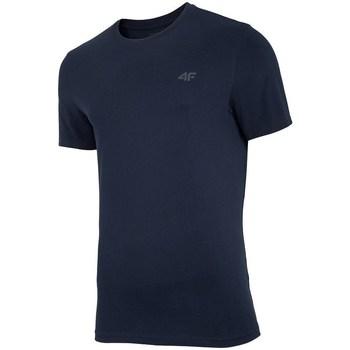 Textil Homem T-Shirt mangas curtas 4F TSM003 Preto