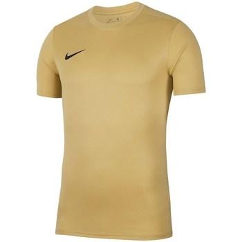 Textil Homem T-Shirt mangas curtas Nike Dry Park Vii Jsy Amarelo