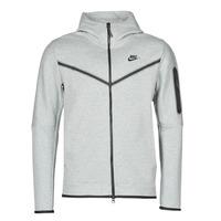 Textil Homem Casacos fato de treino Nike M NSW TCH FLC HOODIE FZ WR Cinza / Preto