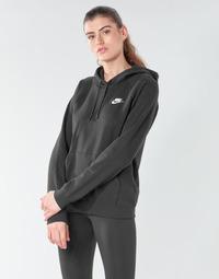 Textil Mulher Sweats Nike W NSW ESSNTL HOODIE PO FLC Preto