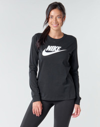 Textil Mulher T-shirt mangas compridas Nike W NSW TEE ESSNTL LS ICON FTR Preto