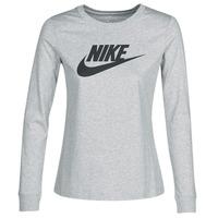 Textil Mulher T-shirt mangas compridas Nike W NSW TEE ESSNTL LS ICON FTR Cinza