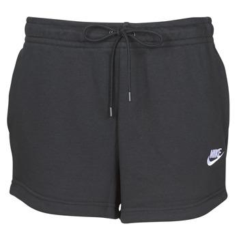Textil Mulher Shorts / Bermudas Nike W NSW ESSNTL SHORT FT Preto