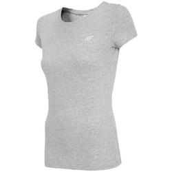 Textil Mulher T-Shirt mangas curtas 4F NOSH4 TSD001 Chłodny Jasny Szary Melanż Cinzento