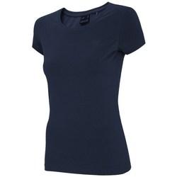 Textil Mulher T-Shirt mangas curtas 4F NOSH4 TSD001 Granat Azul marinho