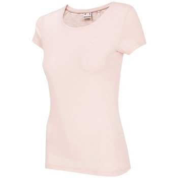 Textil Mulher T-Shirt mangas curtas 4F NOSH4 TSD001 Jasny Róż Cor-de-rosa