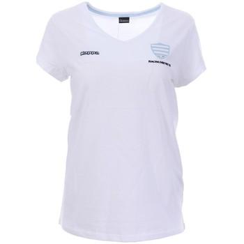 Textil Mulher T-Shirt mangas curtas Kappa  Branco