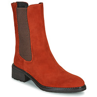 Sapatos Mulher Botas baixas Regard DAMGAN V2 VELOURS CHATAIGNE Vermelho