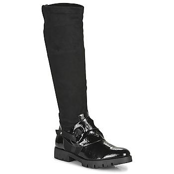 Sapatos Mulher Botas Regard CANET V1 VERNIS NOIR Preto