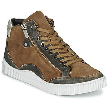 Sapatos Mulher Sapatilhas de cano-alto Regard ISLANDE V2 BONGO CHAMOIS Castanho